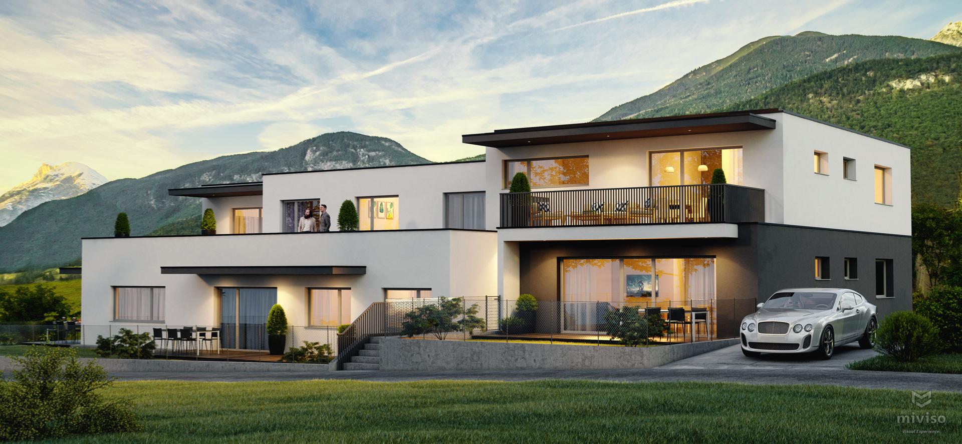Wohnbauprojekt Inzing Tirol - Ansicht front - Auer & Steiner