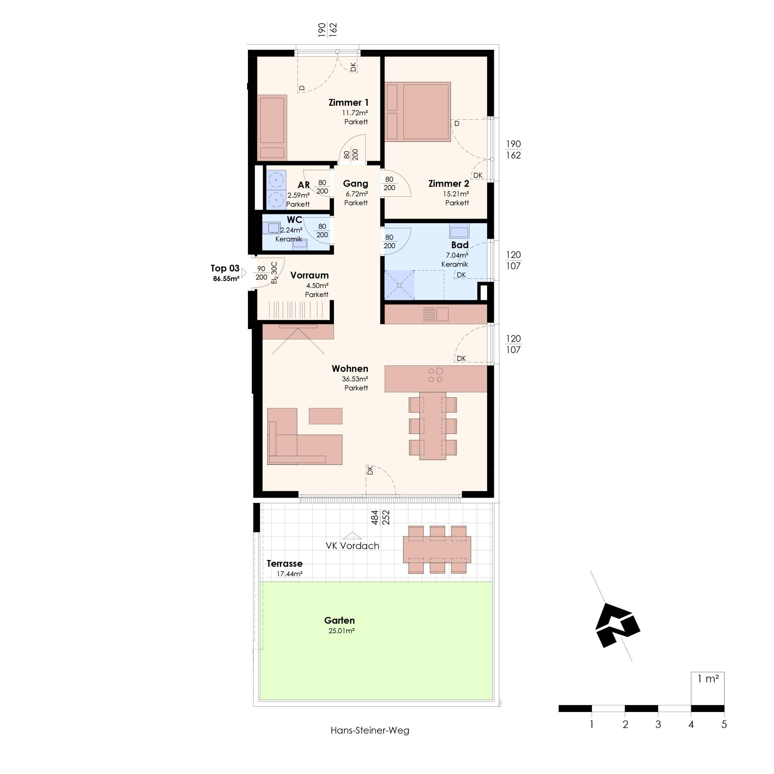 4 Zimmer Obergeschoss